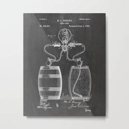 Beer patent Drawing Metal Print