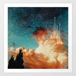 Seeing a City in the Clouds Art Print