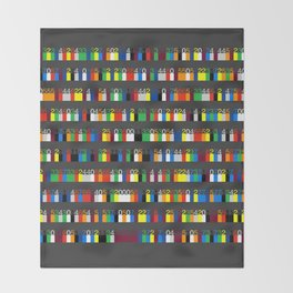 Color by Number: Pi Throw Blanket