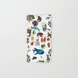 A-Z Endangered Species  Hand & Bath Towel
