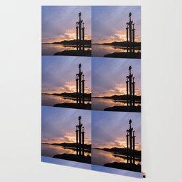 Sunset at the Three Swords, Stavanger Wallpaper