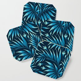 Waikiki Palm - Petrol Blue Coaster