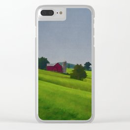 Pure Country Red Barn Art Poster Clear iPhone Case