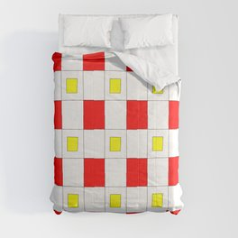 Tribute to mondrian 2- piet,geomtric,geomtrical,abstraction,de  stijl, composition. Comforters