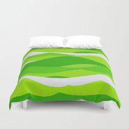 Waves - Lime Green Duvet Cover