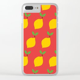 Bright Summer Lemon Pattern - Refreshing and Fruity Clear iPhone Case