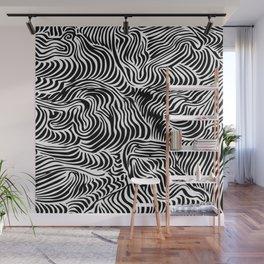 black flow Wall Mural