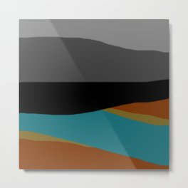 Evening Beach View Metal Print