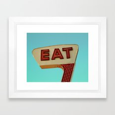 Eat Framed Art Print