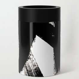 Brushstroke 2 - simple black and white Can Cooler