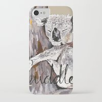 cuddle iPhone & iPod Cases featuring koala cuddle by Katy Lloyd