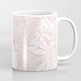 Elegant faux rose gold floral mandala design Coffee Mug