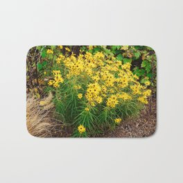 Yellow Wildflowers Bath Mat