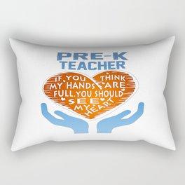 Pre-K Teacher Rectangular Pillow