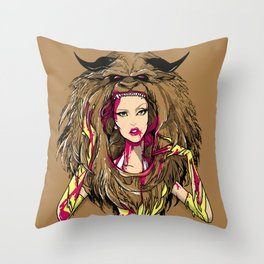 Beautiful Killer Throw Pillow