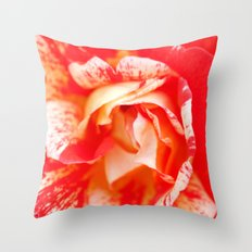 Two‑Color Rose Flower 3472 Throw Pillow