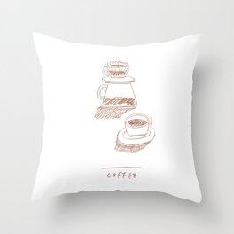 coffee hand-drip time Throw Pillow