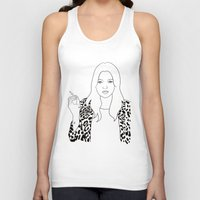 kate moss Tank Tops featuring Kate Moss by Whiteland