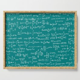 Math Equations // Teal Serving Tray