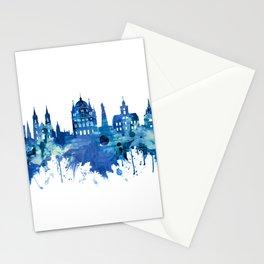 Lodz Poland Skyline Blue Stationery Cards