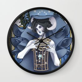 Lady Winter Wall Clock