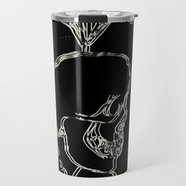 Skull, Lips, Flower Travel Mug