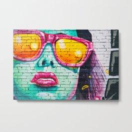 Graffiti Of Women On Wall Metal Print