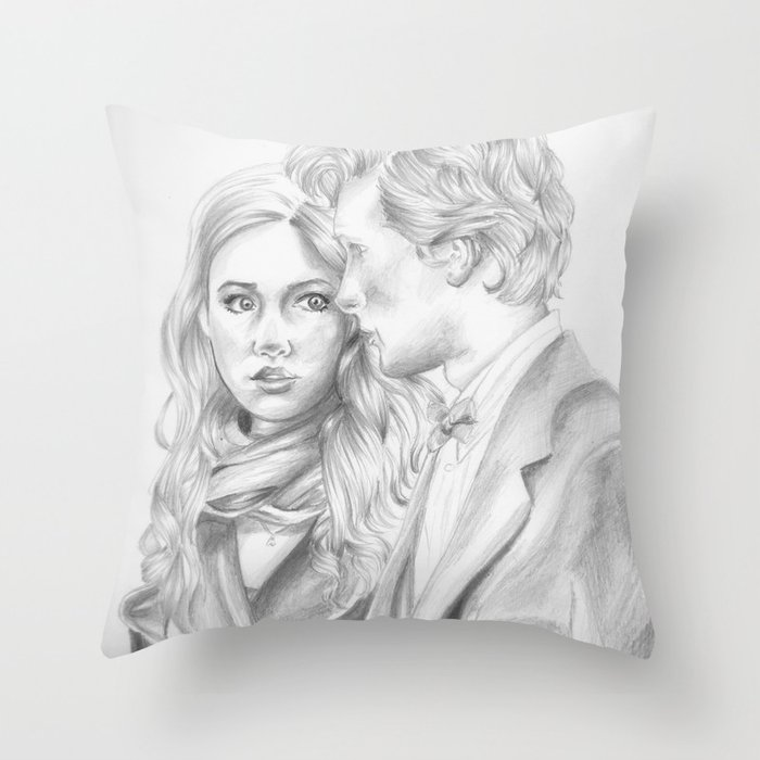 the doctor & amy Throw Pillow