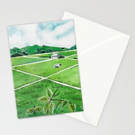Tending Paddy in the Valley Stationery Cards