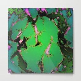 Soft green shatter Metal Print