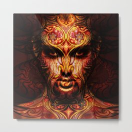 art abstract protrait Metal Print