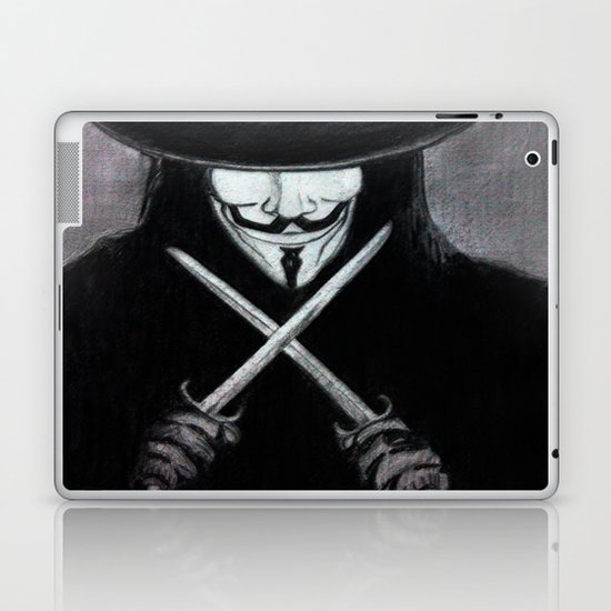 V for Vendetta  (by Esin )5 Laptop & iPad Skin