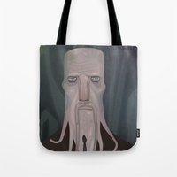 cthulhu Tote Bags featuring cthulhu by Crooked Octopus