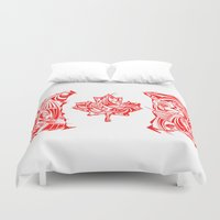 canada Duvet Covers featuring Canada Flag by David T Eagles
