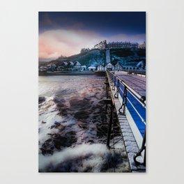 Snowey Saltburn Canvas Print