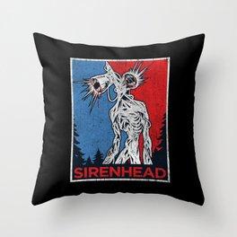 Vote Siren Head  vintage meme  Throw Pillow