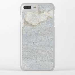 Blueish, rusty and old steel texture Clear iPhone Case