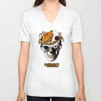 berserk V-neck T-shirts featuring Skull Knight by MOLTA