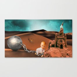 We are all playing in the sand pit Canvas Print
