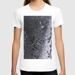 Black and Gray Glitter Bomb T-shirt