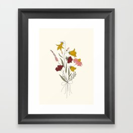 Wildflowers Bouquet Framed Art Print