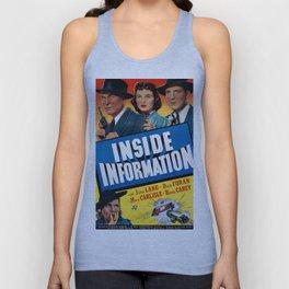 Vintage Movie Posters, Inside Information Unisex Tank Top