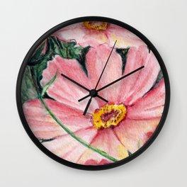 Cosmos Seed Packet Wall Clock