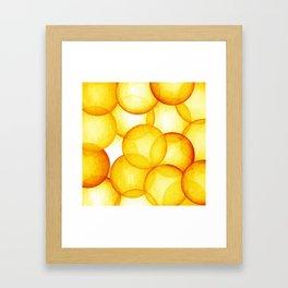 PLAYFUL ORANGE SPHERES Framed Art Print