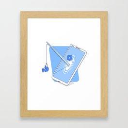 Fishing for likes Framed Art Print