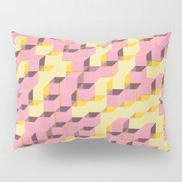 Pixel Cube - Pink Gold Pillow Sham