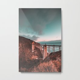 Bixby Bridge Sunset Metal Print