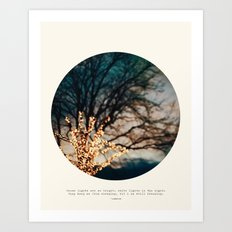 White Lights Art Print