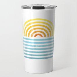Retro Sunset Travel Mug