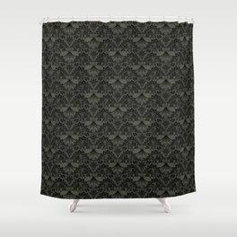 Stegosaurus Lace - Black / Grey Shower Curtain